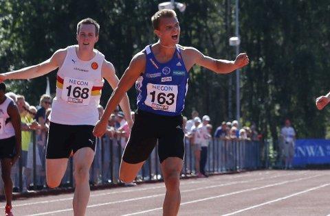 ANKERMANN: Individuelt er Øyvind Strømmen Kjerpeset medaljeaktuell både på 200 og 400 meter hekk. Men denne gongen ønskjer han å sikre edelt metall saman med gutane i Florø TIF.