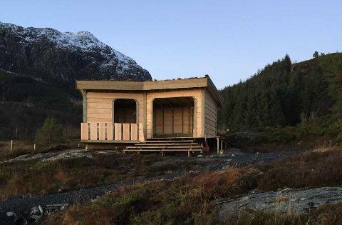 VANN I FJOR: Ein av vinnarane i fjor var gapahuken til Atløy 4H.