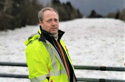 AVKLARA: Anders Muldsvor i NVE seier isproppen har løyst seg og at situasjonen no er avklara.