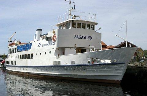 Til salgs: «M/S Sagasund» trafikkerer strekningen mellom Fredrikstad og Strömstad.                                                                                                                                                                                                  Arkivfoto: jan erik skau ¬