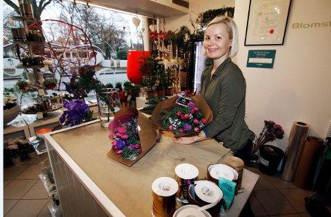 Ny butikk: Thea Gjølstad har startet blomsterbutikk i Nygaardsgaten 7.