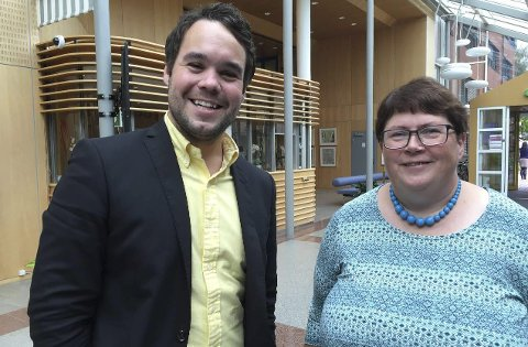 Uenige: Michael Torp (Frp) stemte ja, mens Inger-Christin Torp (Ap) sa nei til Fredrikstad Privatgymnas. Foto: Øivind Lågbu