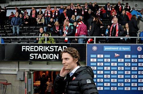 Joacim Heier i FFK mottok nyheten om at klubben nå kan tredoble publikumsantallet med glede.
