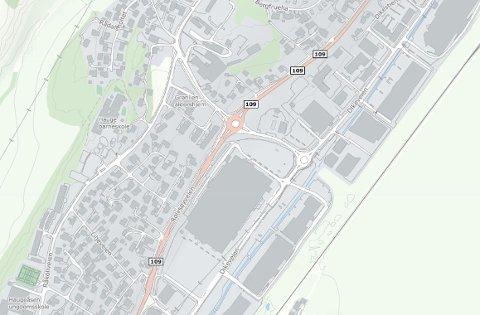 Mistet strømmen: Det var i området mellom Rolvøsyveien og Råkollveien opp mot Grønlien at strømmen ble borte.