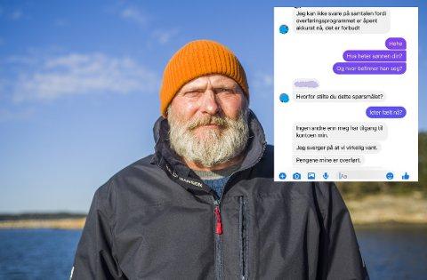 """Still personlige spørsmål som ikke finnes på Facebook, er Sten Helbergs råd til dem som får meldinger fra kjente som begynner å se mistenkelige ut. Han ble selv bedt om å oppgi kontonummeret sitt til det som tilsynelatende var moren til en god venn – men """"moren"""" ante ikke hvor sønnen befant seg."""