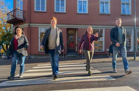 PÅ TUR: Silvia Restad, Thomas Hollingsæter, Cathrine Eriksen og Kai Andreas Langård vil ha deg opp av sofaen.