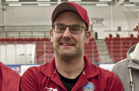 GODT FORNØYD: Sportslig leder i Kongsvinger Ishockey, Anders Angelbrant, er godt fornøyd med over 32.000 kroner inn i klubbkassa. Etter at spleisen ble opprettet ligger klubben godt an til å nå målet på 50.000.