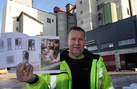 ER SENT: – Jeg håper det ikke vil gå alt for lenge før vi kan starte utbyggingen, sier daglig leder ved Fiskå Mølle på Flisa, Kjetil Aandstad.