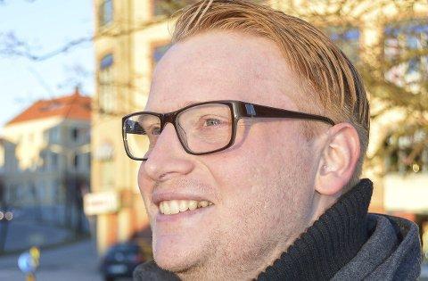 FORHANDLER: Fredrik Holm i Halden Høyre.