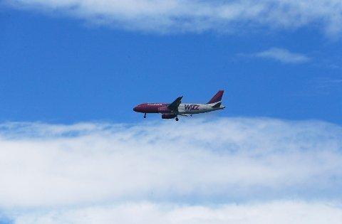 KOM SEG IKKE NED: Wizzairs fly fra Gdansk.