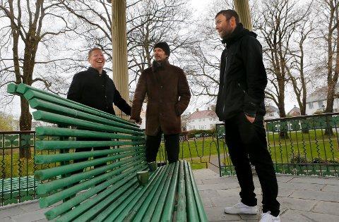 SPENTE: Per Steinar Lie (t.v.), Pål Jackman og Ørjan Haaland i Undergrünnen er spente hvordan det blir å slippe sin nye plate i slutten av mai.