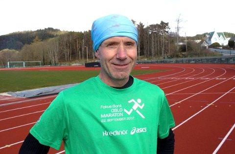 MOTIVATOR: Morten Vestvik på hjemmebane. Styrelederen i HIL har en ambisjon om å motivere folk flest til å løpe.