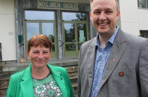 Tone Moby og Rune Krutå kjemper for å løfte Ap de siste dagene før valget.