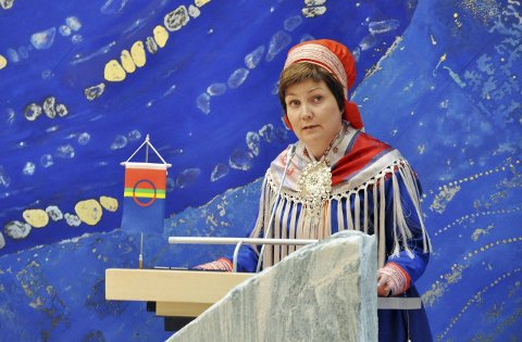 Sametingspresident Aili Keskitalo, NSR, Sametinget.