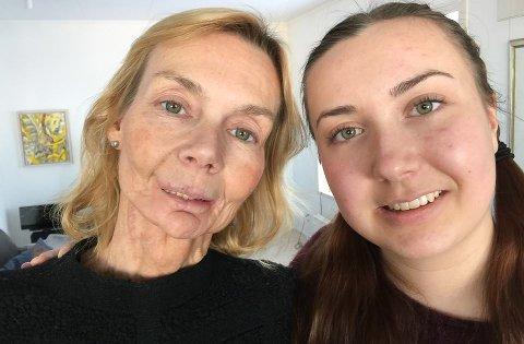 KRAFTTAK: - Å overlever er ikke det samme som å leve, sier Line Henriksen sammen med datteren Kristina Hamre som på kvinnedage samler inn penger for kreftsaken.