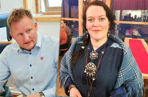 Nyvalgt leder for Troms og Finnmark Frp, Odd Eilert Persen og NSRs Silje Karine Muotka. Akrivfoto