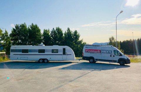 UT PÅ TUR: iFinnmarks videobil og campingvogna blir med ut på turné. Første stopp er Hasvik mandag 5. august.