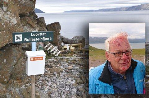 FALT: Bjørn Thorvald Midttun falt mens han forsøkte å ta seg til Rullesteinfjæra langs perleturstien som er anlagt i området.
