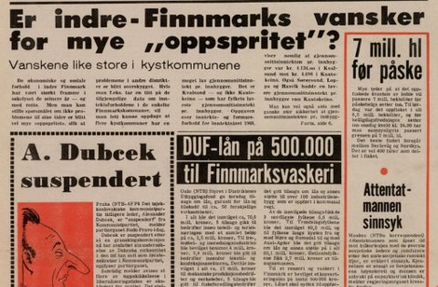 FAKSIMILE: Finnmarken 23. mars 1970.