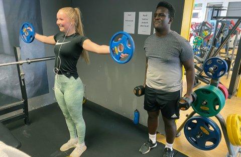 TILBAKE: Marie og Abdurazak var blant de som var på Gym 1 i Hammerfest på åpningsdagen.