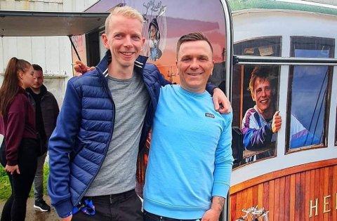 OVERTALTE BROX: Simen Rasmussen (t.v.) fikk overtalt Ken Arne Brox til å gå i gang med en større festival i 2010.