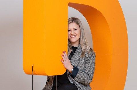 KLAR PLAN: Julie Vangen Aas (26) bestemte seg allerede etter videregående at hun ville bli eiendomsmegler.