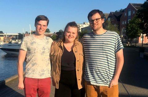 Camilla Maria Brekke (19), Marius Øen Cleveland (21) og Sigurd Røraas (21) fikk allle tre fast plass i deg nye kommunestyret.