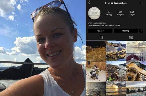 SATSER PÅ NETT: Ida Christine Ahlgren Hødnebø håper å nå ut til et bredt publikum på Instagram.