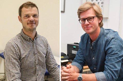GRÜNDERE: Fastlegene Bernt Filip Kristiansen Hasseleid (t.v.) og Elof Johan Pape Nelson starter Kragerø Båtutleie AS sammen med Lars Erik Kløve Olsen og Lasse Ljønes.