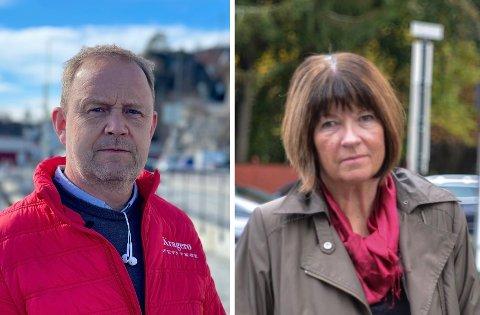 RYDDER OPP: Ordfører Grunde Wegar Knudsen (Sp) og kommunedirektør Inger Lysa er enige i at kommunen må skjerpe seg.