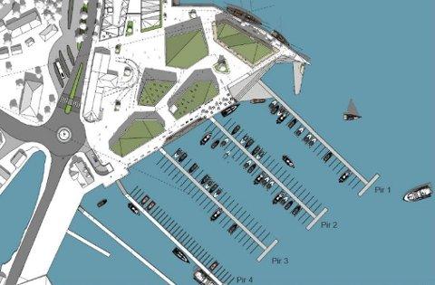 BÅTHAVN: Slik ønsker Kragerø Utvikling AS å bygge ut småbåtanlegg.