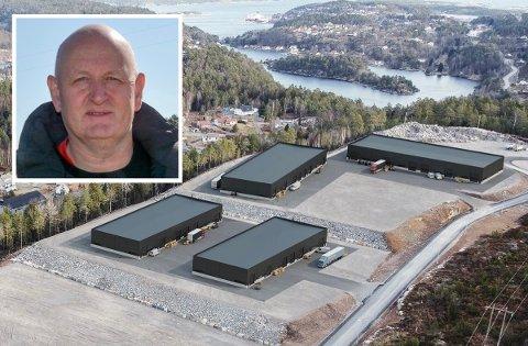 NÆRINGSBYGG: Det er i disse lokalene i Risør at Klas Lønnes firma Kragerø Naturstein skal inn.