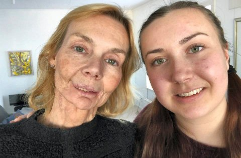 KRAFTTAK: - Å overlever er ikke det samme som å leve, sier Line Henriksen sammen med datteren Kristina Hamre som på kvinnedagen samlet inn penger for kreftsaken.