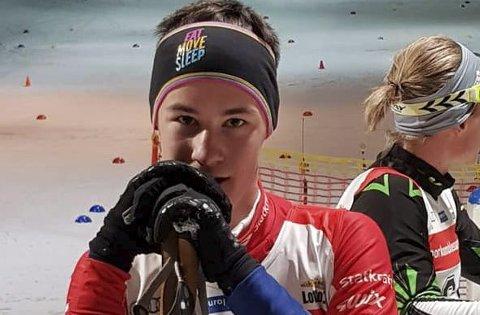 BRONSEMEDALJE: Sveneløperen Twan Adriaanse tok bronse i det nederlandske langrennsmesterskapet.
