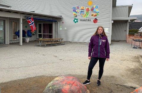 Har fått nok: Siri E. Holen, pedagogisk leder i Veslefrikk FUS barnehage i Lierbyen, føler kommuneledelsen ikke skjønner at de gjør så godt de kan i en utfordrende hverdag.