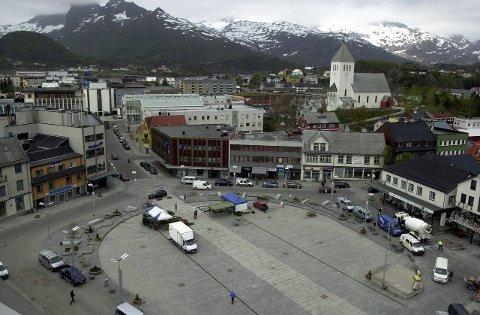 Isbane: På høyre side av torget foran Kringla bakeri kommer det en kunstisbane på minimum 10 ganger 10 meter. Arkivfoto