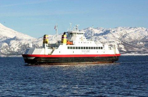 Bilferga Tysfjord trafikkerer sambandet Melbu - Fiskebøl
