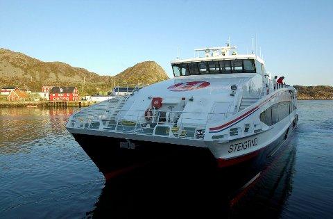 Hurtigbåt: Disse båtene ønsker fylkespolitikerne å fjerne fordi de er kostbare. På NEX-sambandene subsidieres hver billett med 780 kroner i snitt. Hvis NEX forsvinner på Bodø-Svolværruten, betyr det at 20 000 reisende må finne alternativer å reise på. Og alternativene finnes ikke i dag.