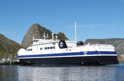 """""""MF Værøy"""" som har trafikkert sambandet Bodø-Værøy-Røst-Moskenes. Arkivfoto"""