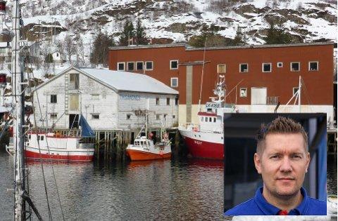 Det gamle Sandnes-bruket på Napp gikk for 1,8 millioner kroner. Innfelt: Kent Kristoffersen, som er en av kjøperne.