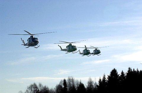 Helikopterstøyen vil bli vesrt på kvelds- og nattestid.
