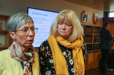 Betent: Høyres Sissel Rundblad ( til h.) stiller spørsmål til ordfører Hanne Tollerud i kommende bystyremøte.