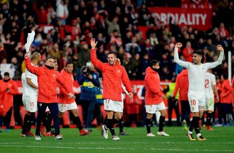 Sevilla-trener Vincenzo Montella så sine spillere ta seg til cupfinale med 2-0-seier over Leganés onsdag.