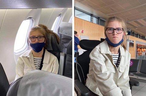 KASTET AV: Julie Thobroe Anda fikk ikke bli med flyet.