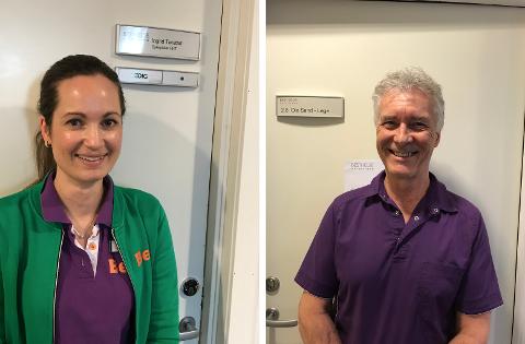VANSKELIGE TIDER: Sykepleier Ingrid Tørstad (36) og lege Ola Sand (65) på Best Helse forteller at mange pasienter sliter psykisk under koronapandemien.