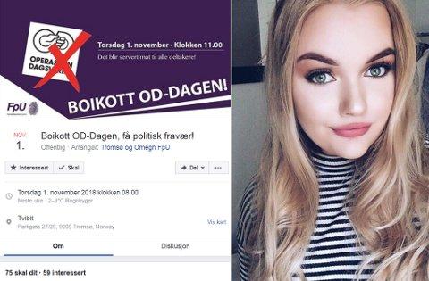 BOIKOTT: FpU mener elever som boikotter OD-dagen og heller deltar på et politisk arrangement partiet arrangerer på Tvibit, ikke skal få registrert fraværet på skolen. Det avviser skoleledelsen i Troms.