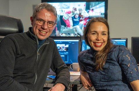 KLIPPER DE FIRE SISTE: Kåre Johannes Inderberg og Helga Bones ferdigstiller de fire siste programmene i serien.