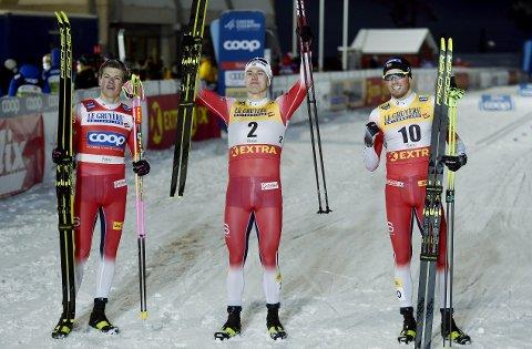 PAUSE: Denne Erik Valnes-jubelen i verdenscupåpningen i Finland sist helg, blir den siste i internasjonal sammenheng på lang tid.
