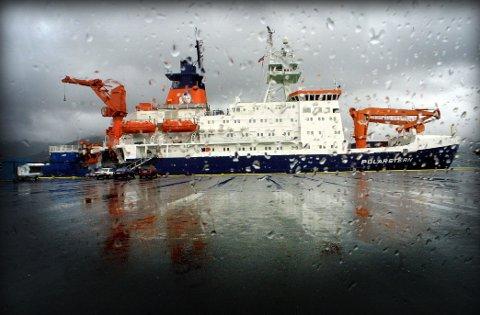 Den tyske isbryteren og forskningsskipet Polarstern ligger til kai i Tromsø.