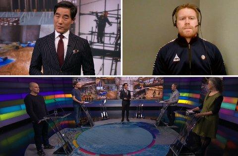Programleder Fredrik Solvang i NRK hadde Tom Høgli fra TIL med på debatt sammen med representantert fra rekke andre aktører - deriblant Amnesty, Norsk supporterallianse og Norges fotballforbund